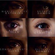 Katherine & Damon & Stefan & Caroline & Elena & Bonnie.