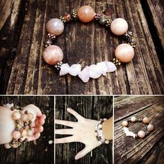 PMS Bracelet (Peach Moonstone, Bloodstone) by EmilysReikiBracelets, only $30 on Etsy! #bracelet #boho #hippie #yoga #meditation #energy #pretty #reiki #jewelry #pms #health #homeopathic #crystals #gems #raw #stones #moonstone #bloodstone #rose quartz #rustic #christmas #present #ideas #statement