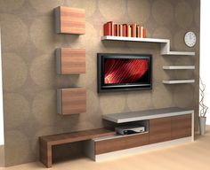 Modern Tv Wall Unit Designs for Living Room - Modern Tv Wall Unit Designs for Living Room , Tv Unit Design Inspiration for Your Home — Best Architects Tv Cabinet Design, Tv Wall Design, Shelf Design, Design Ikea, Design Design, Lcd Units, Home Interior, Interior Design, Interior Ideas