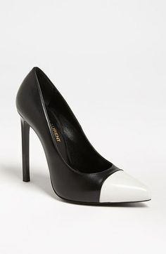 Saint Laurent Point Toe Pump available at Nordstrom for $695 USD. You can't go wrong with this black & white pump!