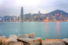 Hong Kong Island from the West Kowloon Waterfront Promenade
