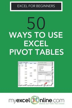 "A Pivot Table allows you to analyze more than 1 million rows of data w/ just a few mouse clicks, show the results in an easy to read table, ""pivot""/change the report layout w/ the ease of dragging fields around, highlight key information to management & include Charts & Slicers for your monthly presentations. In this tutorial you'll find 50 ways you can do w/ an Excel Pivot Table. Check it out now from the MyExcelOnline blog. 