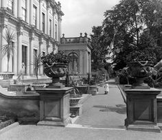 Trentham Hall Remains. In the northern-most part of the Eastern Pleasure Ground stands the remains of Trentham Hall including the sculpture gallery and clock tower. Demolished almost a Century ago, this former seat of the Dukes of Sutherland, was once one of England's grandest country houses.