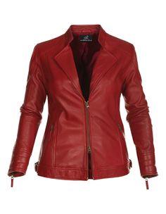 La veste en cuir - rouge - emilia lay
