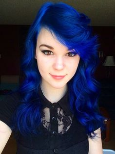 Royal Blue Hair