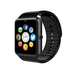 "Smart Watch Cell Phone Android iPhone 1.54"" HD Screen Camera SIM Bluetooth Black #SmartWatch"