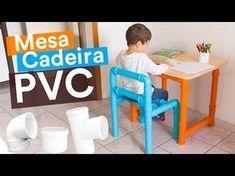 DIY - MESA & CADEIRA de PVC #DesafioTigre - YouTube