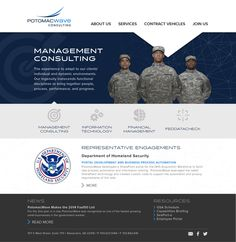 Consulting Website specializing in government contracting and military contracting work. #webdesign #website #design #graphicdesign #military