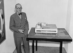 Le Corbusier & model