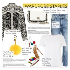 Wardrobe Staple: White T-Shirt by martso on Polyvore featuring MaxMara, Sea, New York, Aquazzura, Proenza Schouler and Fendi
