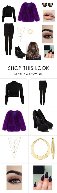 """""""Let's slay"""" by marialk-1 on Polyvore featuring Topshop, Balmain, Casadei, Charlotte Russe and Ross-Simons"""