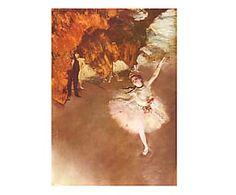 Stampa su tela Edgar Degas Ballerina - 60x85 cm