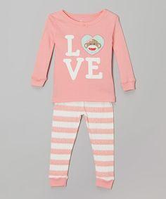 fe30cf8b22 Candlesticks Pink  Love  Sock Monkey Pajama Set - Toddler   Girls