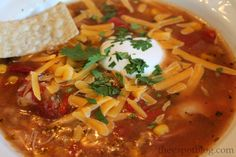 """Chicken Chili: My favorite easy, yummy """"go-to"""" meal."""