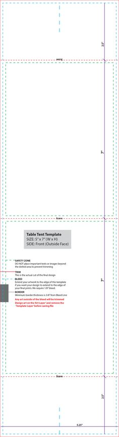 Folded Table Tent Template Table Tents | Chapter Events