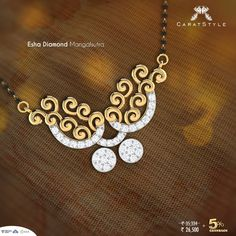 The significance of heritage in contemporary designs with #mangalsutras at #caratstyle. #giftsformom this #ahshayatritiya #momlove #mothersday #gold #diamond