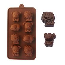 100% Colher de Silicone Molde Do Bolo Molde Chocalate/Ferramentas de Cozimento Molde Do Bolo Baking Mold Forma Animal A047(China (Mainland))