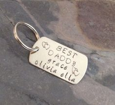 Sterling Silver personalized key chain  by 321SimpleCreations, $28.00