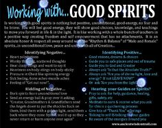Working with Good Spirits - I've encountered evil spirits (ask me about it if you don't believe) and you will know straight up when it's evil or bad. It's utterly terrifying. Always seek the light! Spiritual Enlightenment, Spiritual Awakening, Spiritual Growth, Reiki, Psychic Development, Spiritual Development, Psychic Mediums, Good Spirits, Evil Spirits