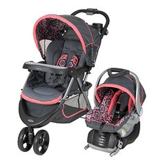 #baby Baby #Trend Nexton Travel System has all features needed for new parents. The three-wheel stroller provides easy maneuverability with two convenient rear b...