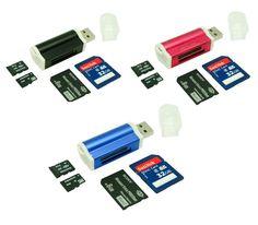 USB 2.0 Ultra MicroSDHC SD SDHC SDXC UHS-I Memory Card Reader Writer Flash Drive #CCM