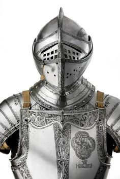 North German three-quarter etched steel field armour made for the Duke of Brunswick, circa 1562-3