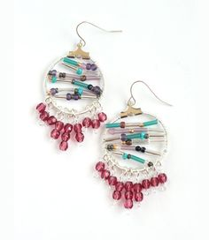 #Howto Make Earrings with Beads and Wire-Pretty Nice #Jewelry