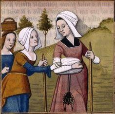 Sulpicia partant retrouver son époux -- BnF Français 599 fol. 72: