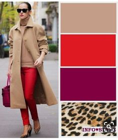 Color combinations for clothes, colour combinations fashion, color comb Colour Combinations Fashion, Color Combinations For Clothes, Fashion Colours, Colorful Fashion, Color Combos, Color Blocking Outfits, Color Pairing, Fall Fashion Trends, Winter Fashion