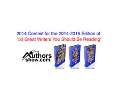 A great opportunity for new writers to showcase their talents has now emerged and I'm a nominee.   http://www.wnbnetworkwest.com/WnbAuthorsShow50Writers2014-VotingPage.html  Pls vote for me to be recognized in the '50 Great Writers You Should Be Reading' Awards.  http://questionpro.com/t/AJhWsZRXWf