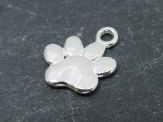 Sterling Silver Paw Print Charm 13mm CG7787 by TheCuriousGem