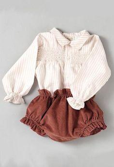 Conjunto cubrepañal Rosa y camisa de rayas Rosa-Conjuntos bebé-KuiniCollection