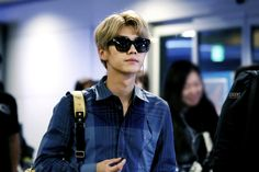 LuHan 鹿晗|| 140831 Airport Guangzhou-Inchon  [Cr: Logo]