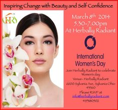 Inspiring Change with Beauty and Self Confidence. Celebrating International Womens Day at Herbally Radiant