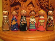Made to Order Wooden Peg Saint Doll--St. Rose of Lima, St. Therese, or St. Cecilia