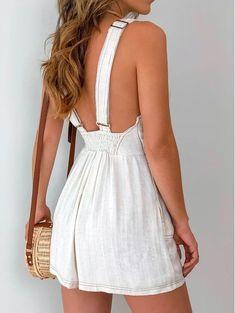 Little Viscolinho Laura, Macaquinho-Viscolinho-Laura. Cute Summer Outfits For Teens, Prom Dresses For Teens, Short Dresses, Summer Dresses, Skirt Outfits, Casual Outfits, Cute Outfits, Fashion Outfits, Fashion Fashion