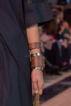 Elie Saab Spring 2020 Fashion Show Details Bracelet Designs, Necklace Designs, Leather Necklace, Couture, Elie Saab, Jewelry Trends, Cross Pendant, Bangle Bracelets, Fashion Jewelry