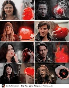 The characters matched with their hearts. Rumple's heart just looks like a piece of coal with a red speck on it.