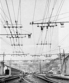 Incrocio delle linee aeree bifilari trifasi, anni  '50