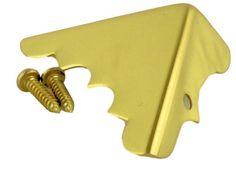 "Set of 8 Solid Brass Box Corners With Screws 1-1/4"" DL-480PB-8"