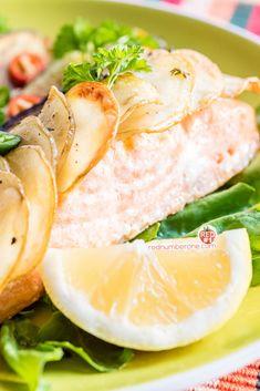 Salmon Fillet with potato scales