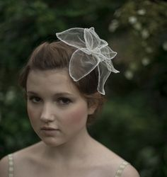 Handmade silk tulle flower headband $165