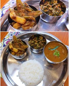 Ashtami  Sunday special: Sambhar with lots of veggies okra fry and aloo-potol (potato and wax gourd) sabzi. #HomeMade #TalesFromNW #MangiaBene