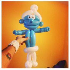 Smurf balloon character
