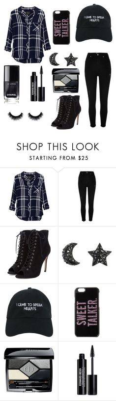"""""""I came to break hearts"""" by lovely-lizzye ❤ liked on Polyvore featuring Rails, River Island, Nasaseasons, Kate Spade, Christian Dior and Edward Bess"""