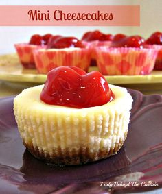 Lady Behind The Curtain - Mini Cheesecakes