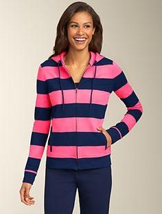 Talbots - Stripe Hoodie | Tees and Knits | Misses