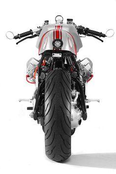 awesome Custom Chopper Motorcycles Moto Guzzi Cafe Racer Sport by Santiago Choppers Guzzi Bobber, V9 Bobber, Guzzi V9, Moto Guzzi Motorcycles, Cool Motorcycles, Scrambler, Moto Cafe, Cafe Bike, Cafe Racer Bikes