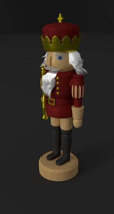 Nutcracker Blender 3D Model