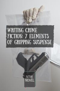 Writing a crime fiction novel for #NaNoWriMo? Take a look at these 7 crucial elements of gripping suspense! #writingtips